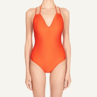 Natacha Tie Back Swimsuit Hot orange