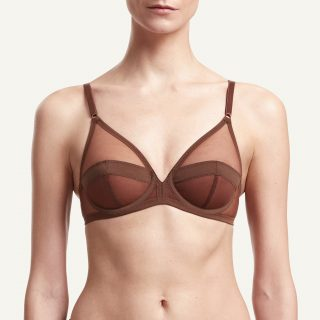 Serena Wired Bra Chestnut